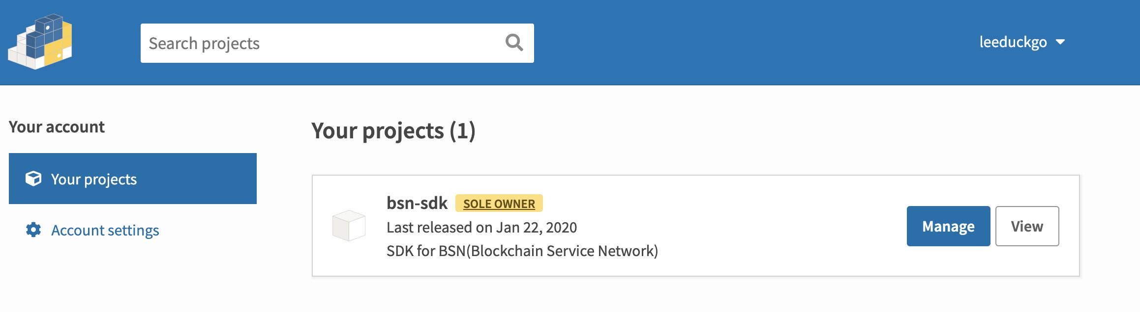 将 SDK 发布到 PIP   BSN 联盟链开发(四)